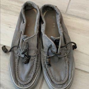 Gray Sperrys size 5.5